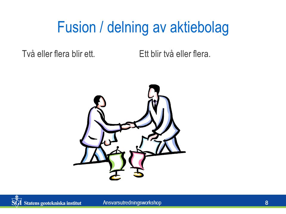 Fusion / delning av aktiebolag