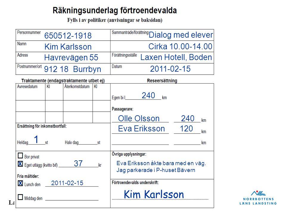 1 Kim Karlsson 650512-1918 Dialog med elever Kim Karlsson