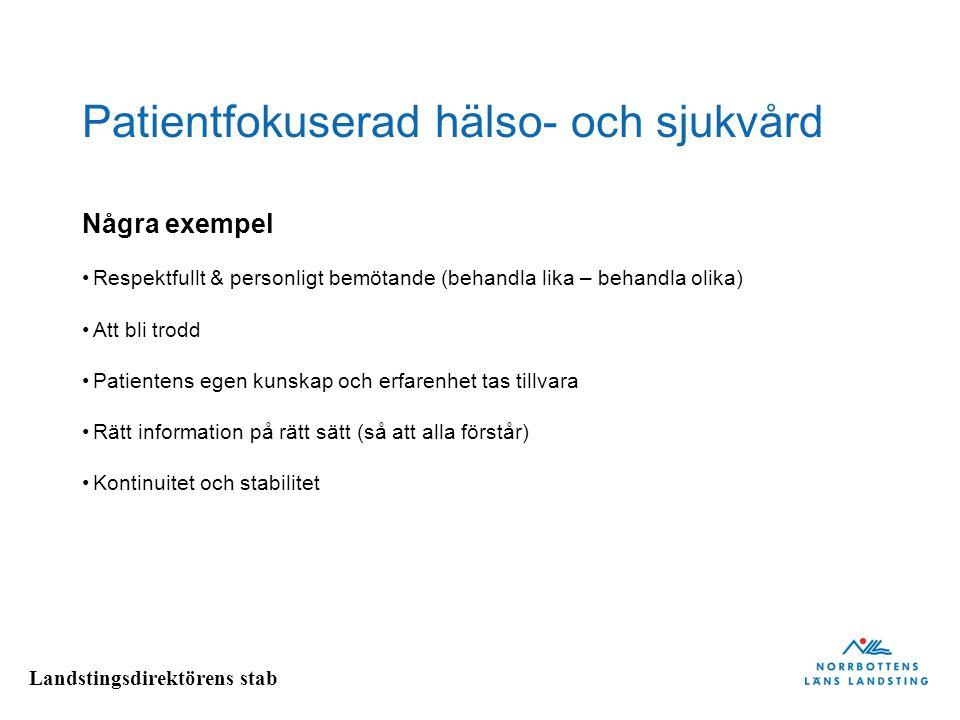 Patientfokuserad hälso- och sjukvård