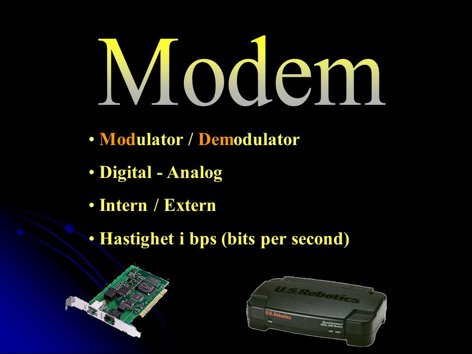 Modem Modulator / Demodulator Digital - Analog Intern / Extern