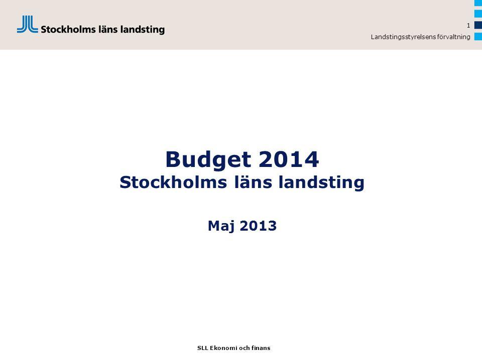 Budget 2014 Stockholms läns landsting Maj 2013
