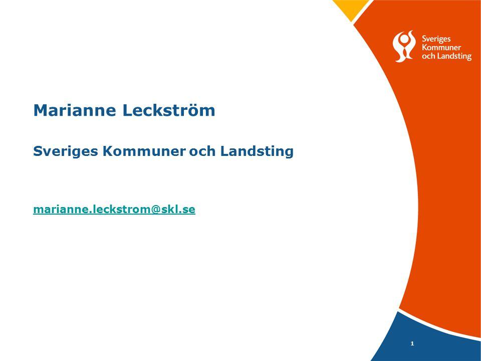 Marianne Leckström Sveriges Kommuner och Landsting