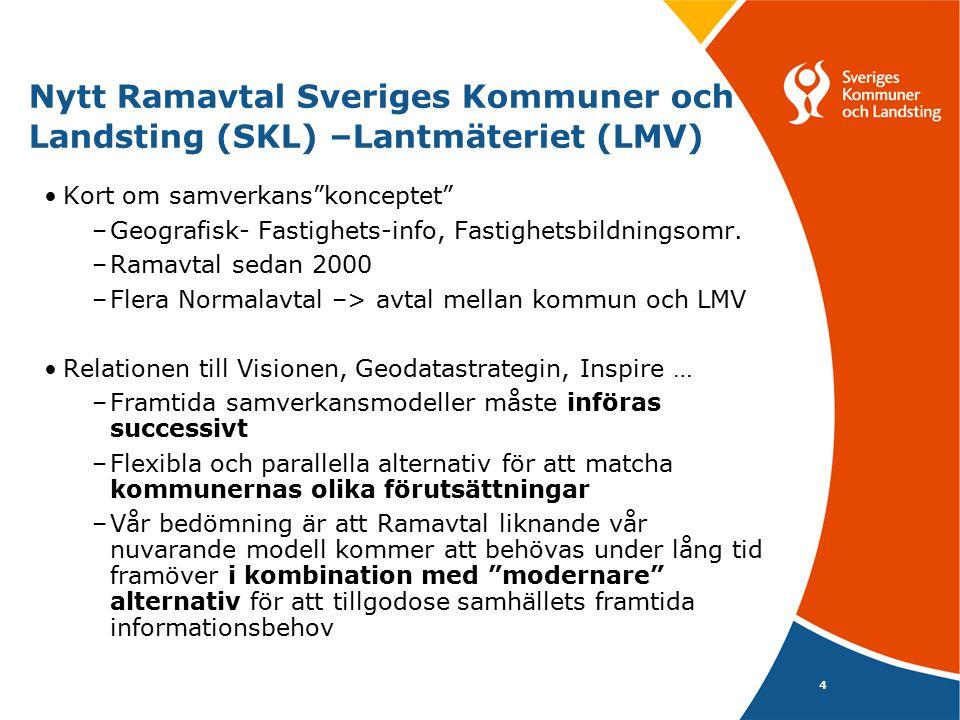 Nytt Ramavtal Sveriges Kommuner och Landsting (SKL) –Lantmäteriet (LMV)