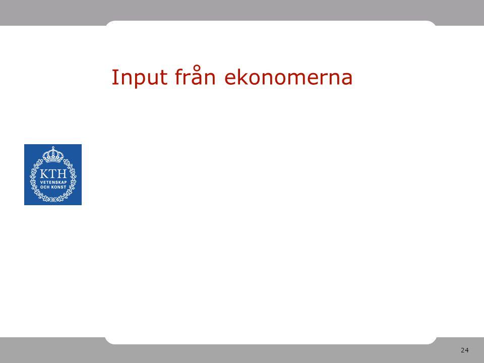Input från ekonomerna