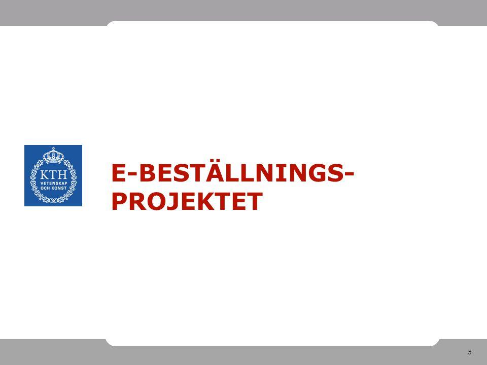 E-beställnings-projektet