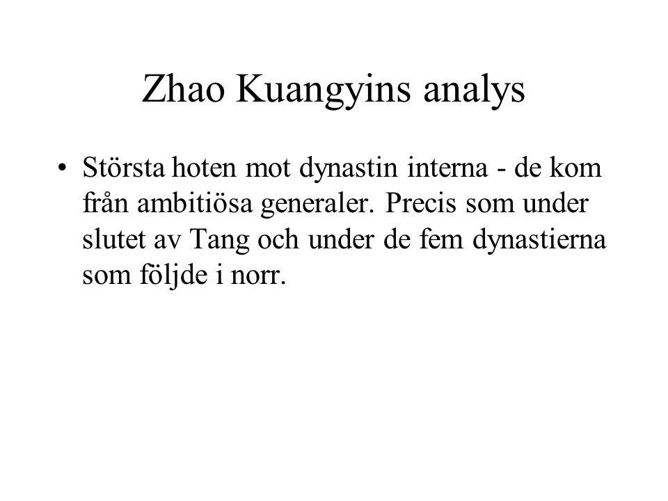Zhao Kuangyins analys