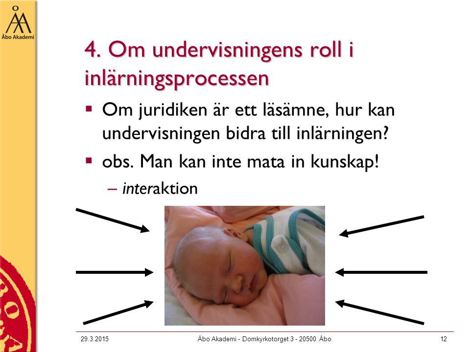 4. Om undervisningens roll i inlärningsprocessen