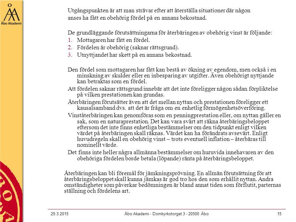 Åbo Akademi - Domkyrkotorget 3 - 20500 Åbo