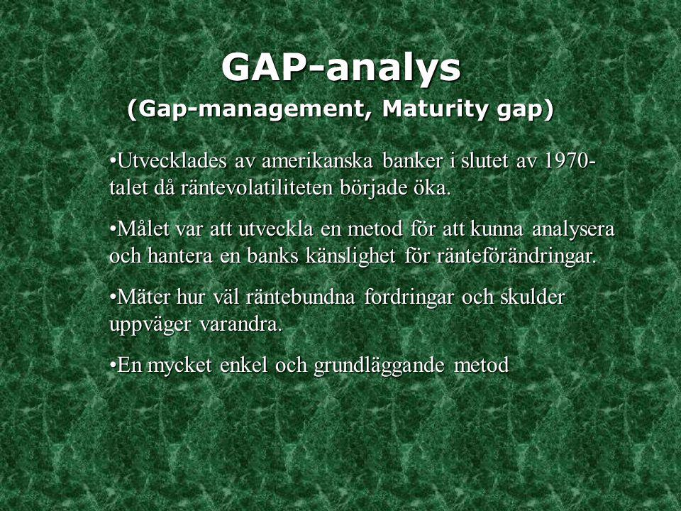 (Gap-management, Maturity gap)