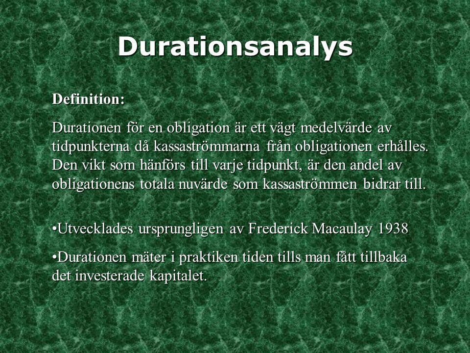 Durationsanalys Definition: