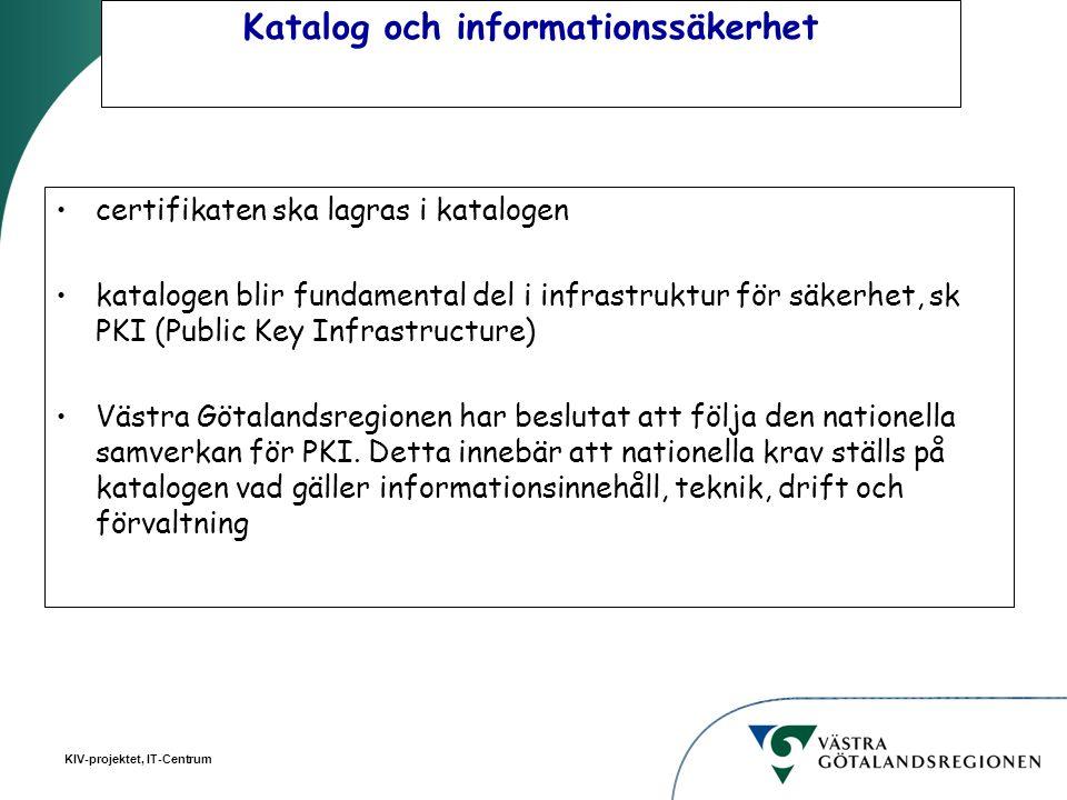Katalog och informationssäkerhet