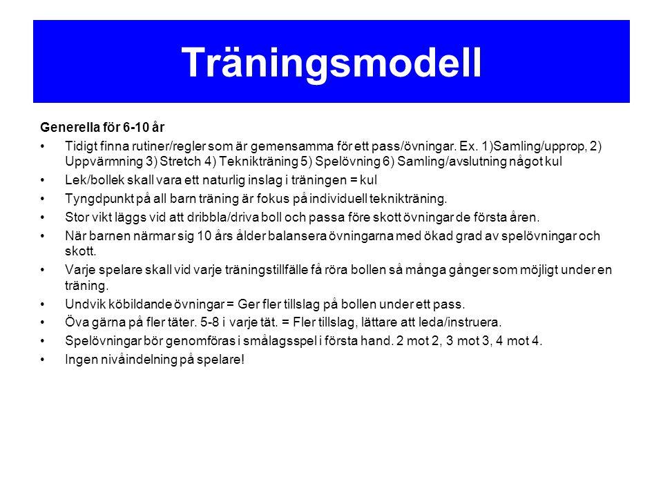Träningsmodell Generella för 6-10 år
