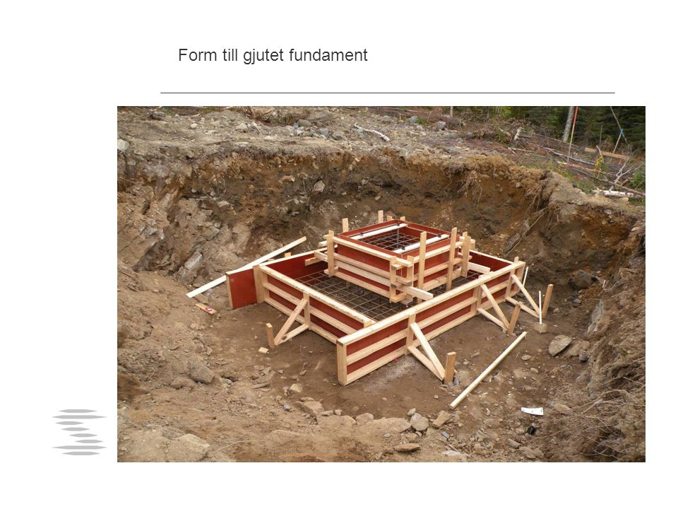 Form till gjutet fundament