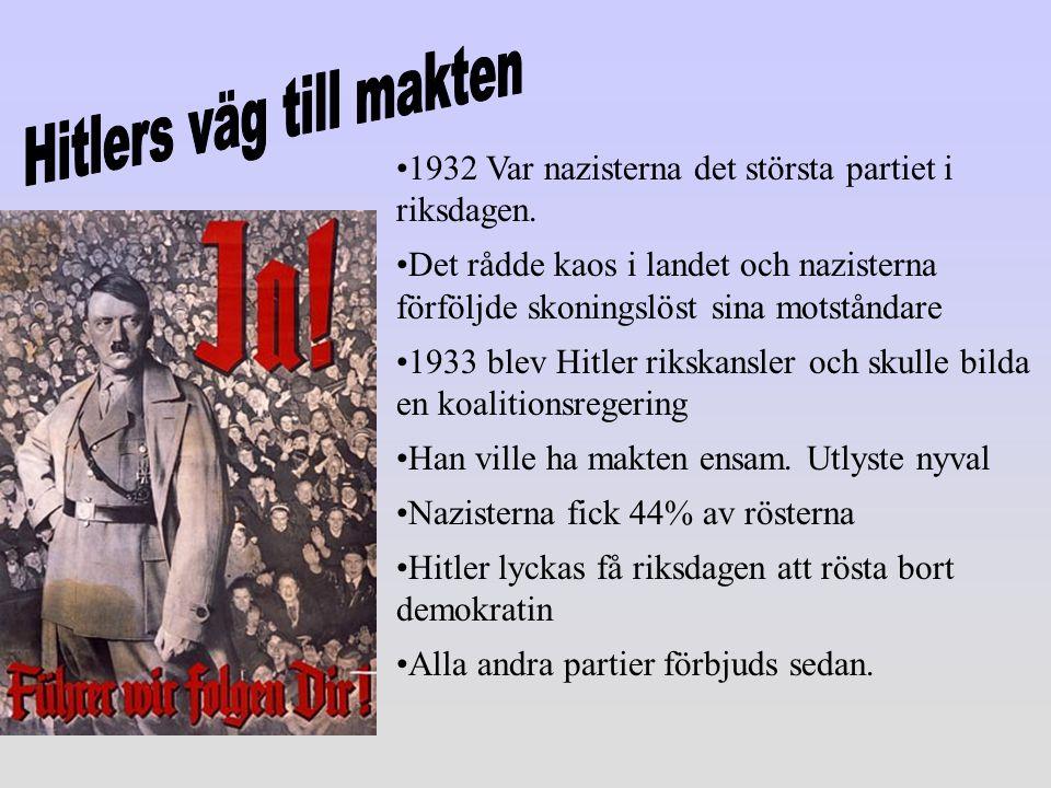 Hitlers väg till makten