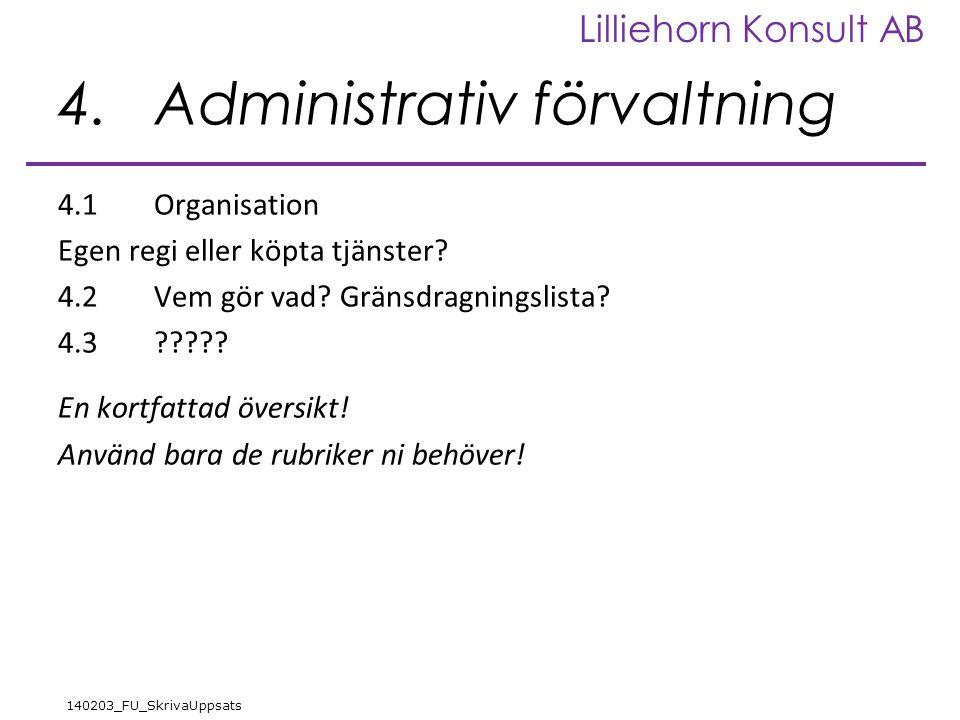 4. Administrativ förvaltning