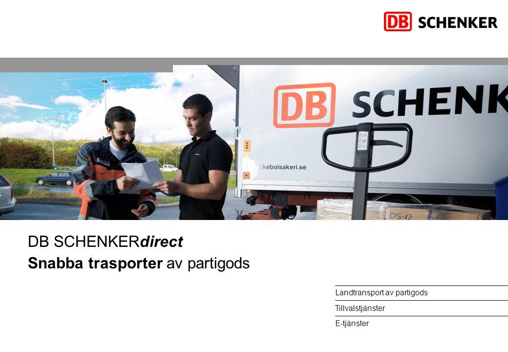 DB SCHENKERdirect Snabba trasporter av partigods