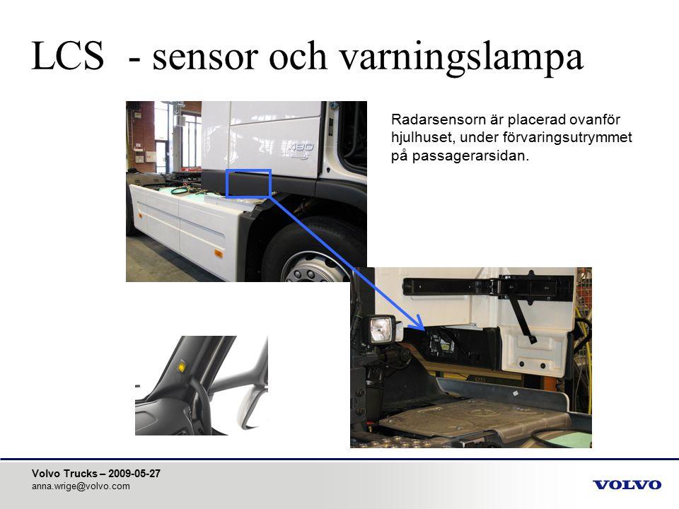 LCS - sensor och varningslampa