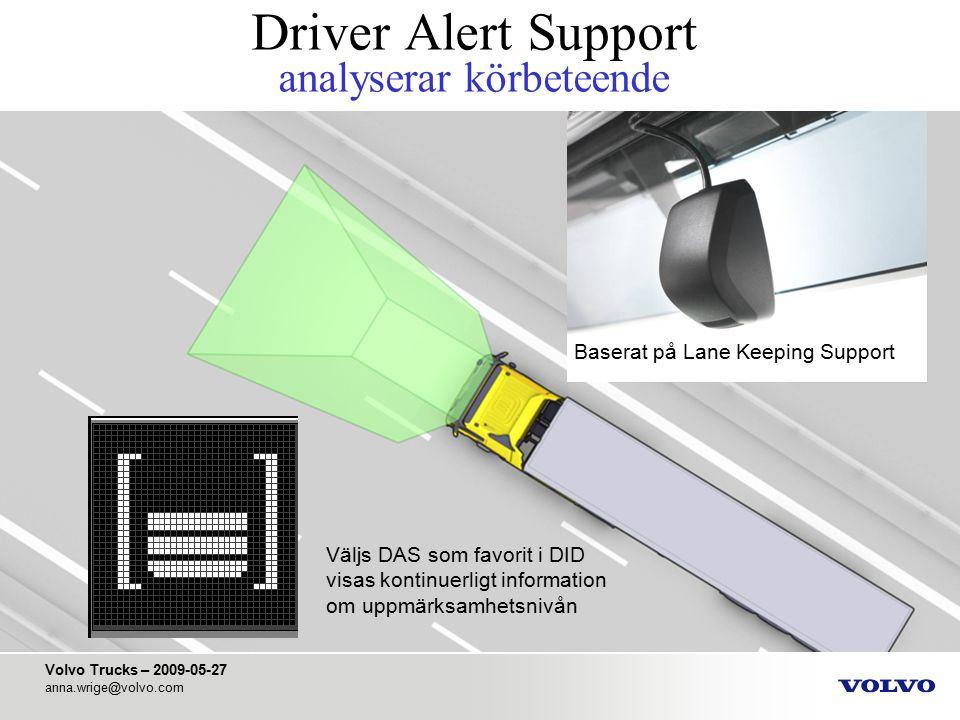 Driver Alert Support analyserar körbeteende