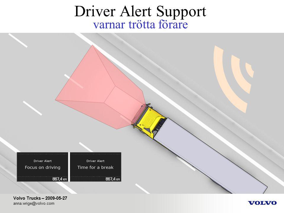 Driver Alert Support varnar trötta förare