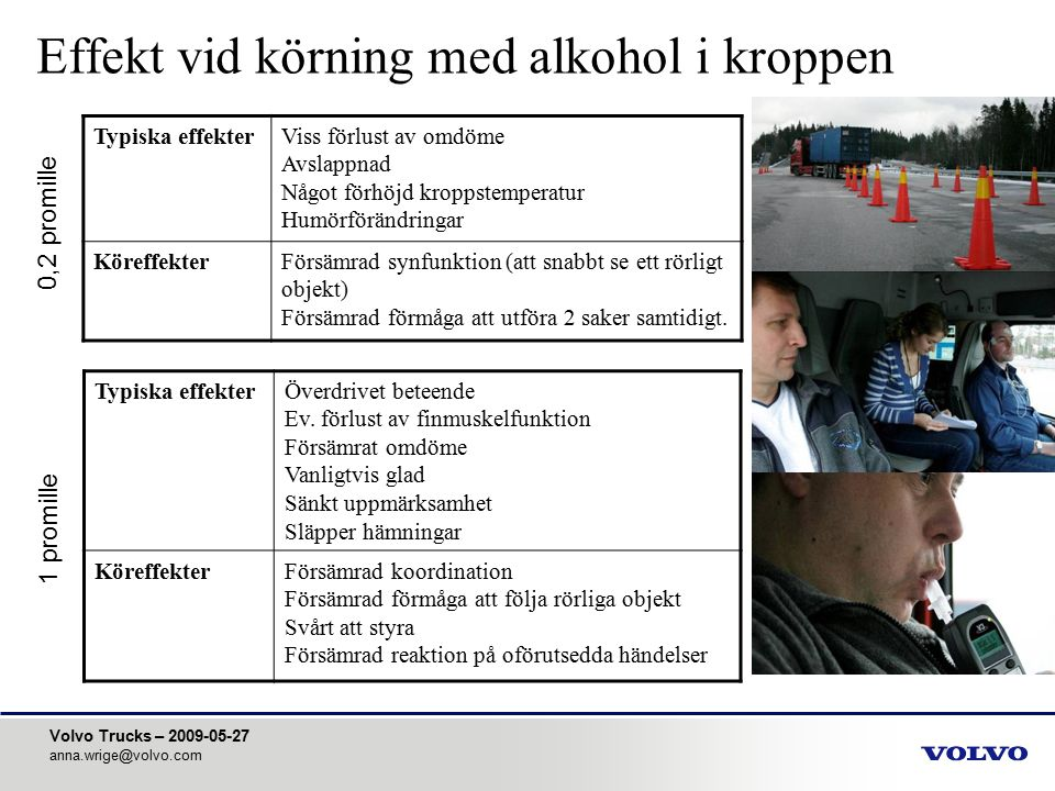 Effekt vid körning med alkohol i kroppen