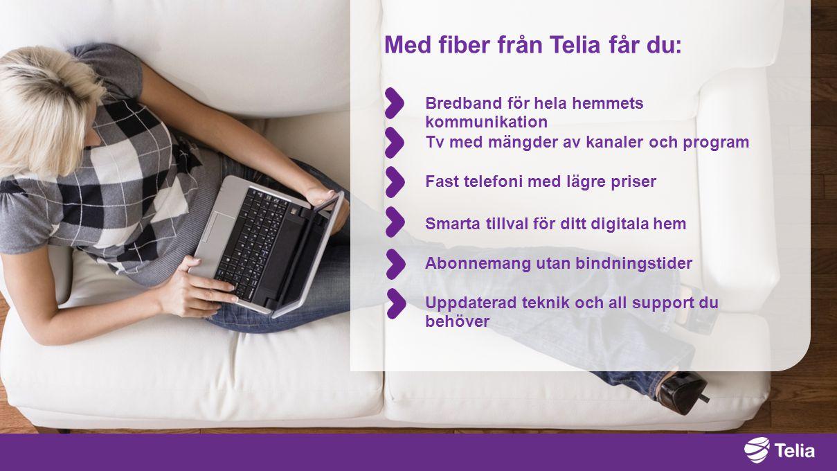 Med fiber från Telia får du: