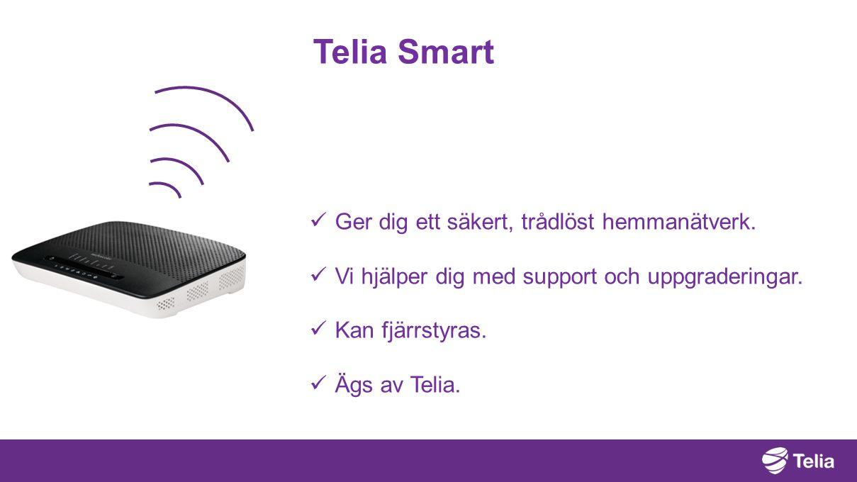 Telia Smart Ger dig ett säkert, trådlöst hemmanätverk.
