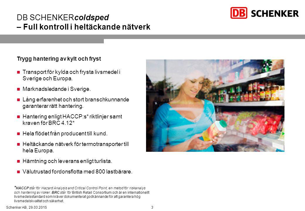 DB SCHENKERcoldsped – Full kontroll i heltäckande nätverk