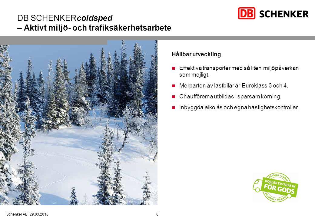 DB SCHENKERcoldsped – Aktivt miljö- och trafiksäkerhetsarbete