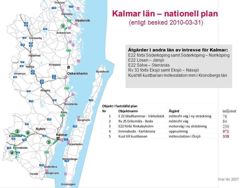 Kalmar län – nationell plan