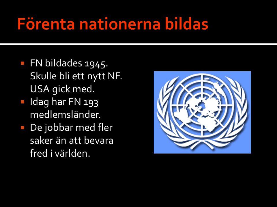 Förenta nationerna bildas