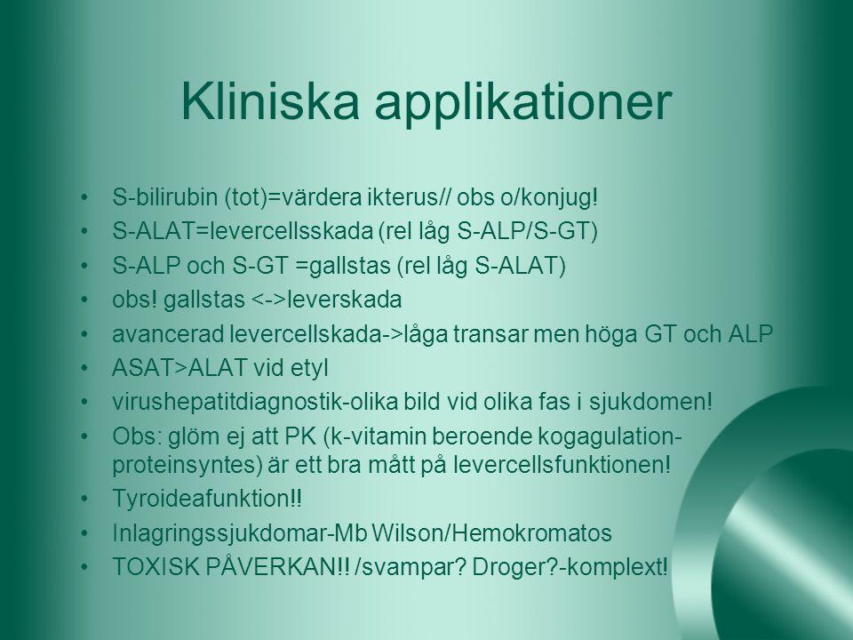 Kliniska applikationer
