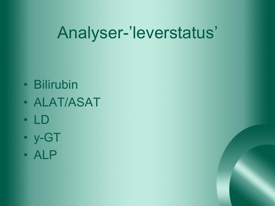 Analyser-'leverstatus'
