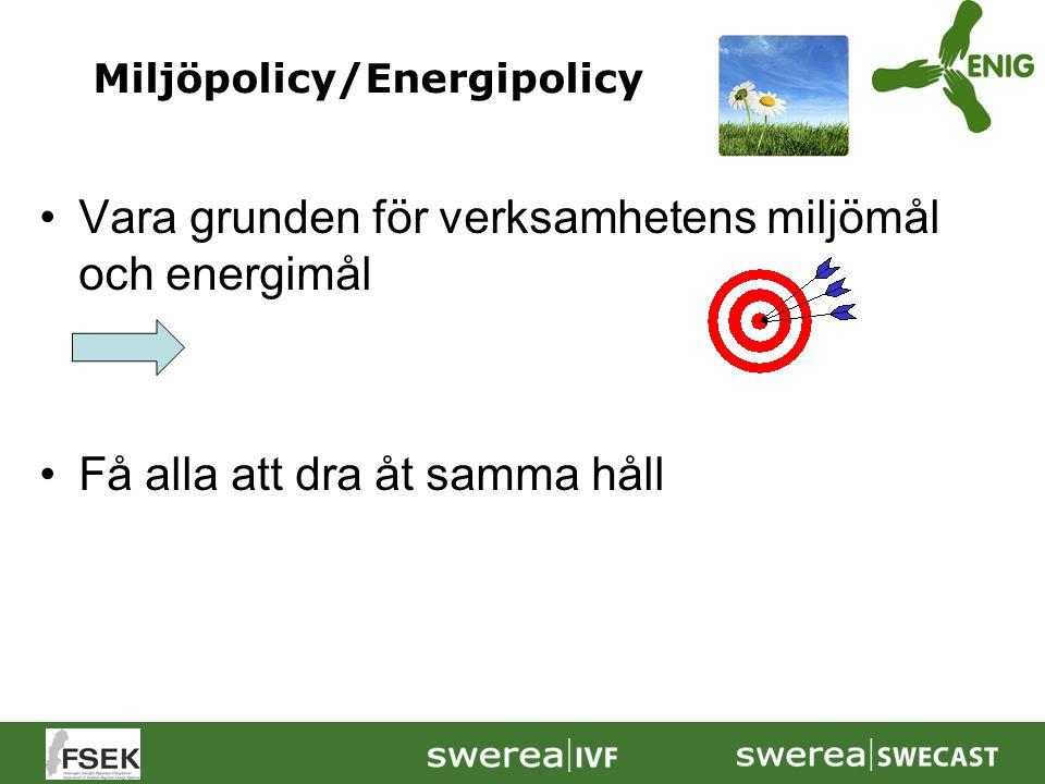 Vara grunden för verksamhetens miljömål och energimål