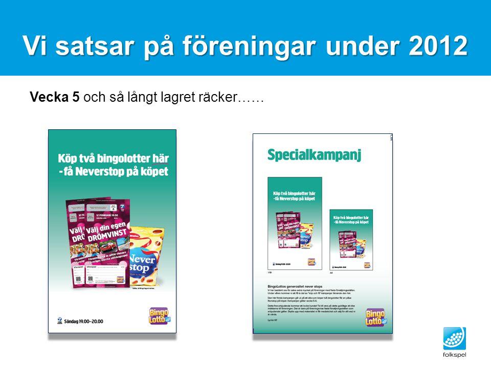 Vi satsar på föreningar under 2012