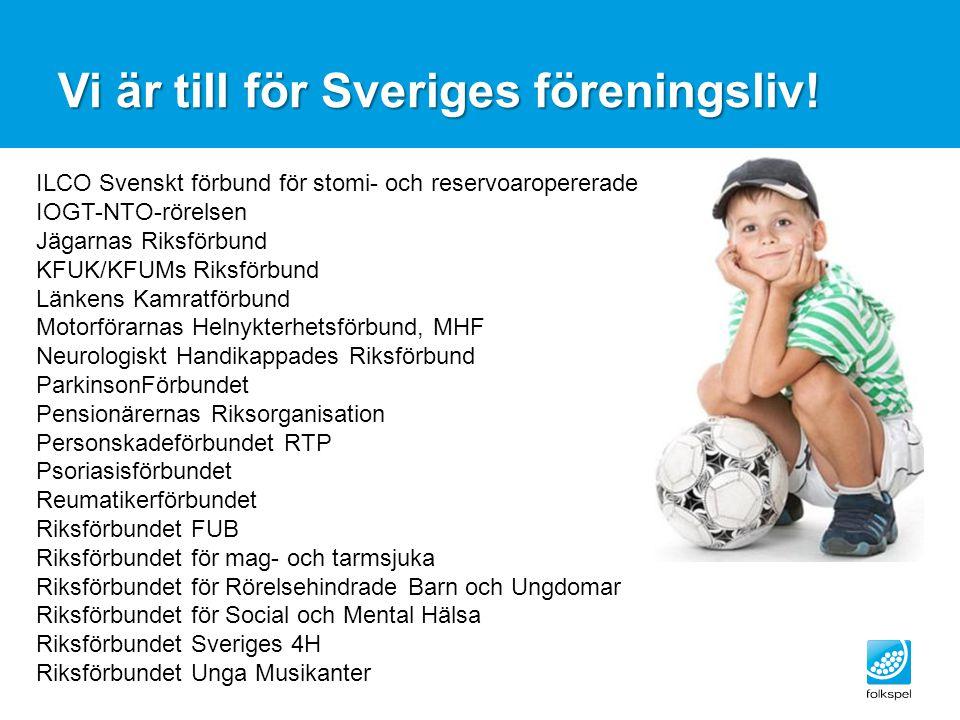Vi är till för Sveriges föreningsliv!