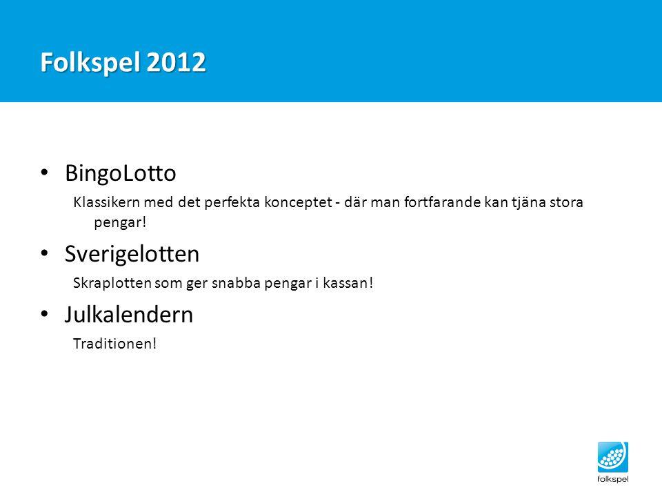 Folkspel 2012 BingoLotto Sverigelotten Julkalendern
