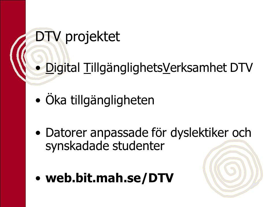 DTV projektet Digital TillgänglighetsVerksamhet DTV