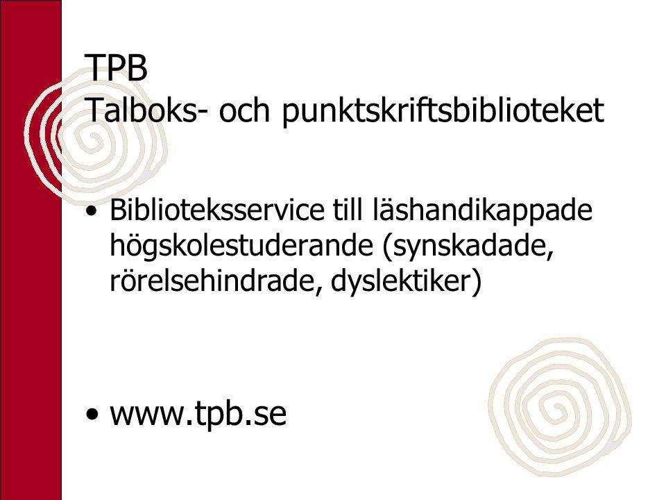 TPB Talboks- och punktskriftsbiblioteket