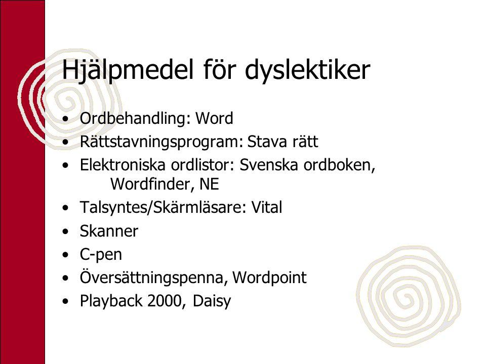 Hjälpmedel för dyslektiker