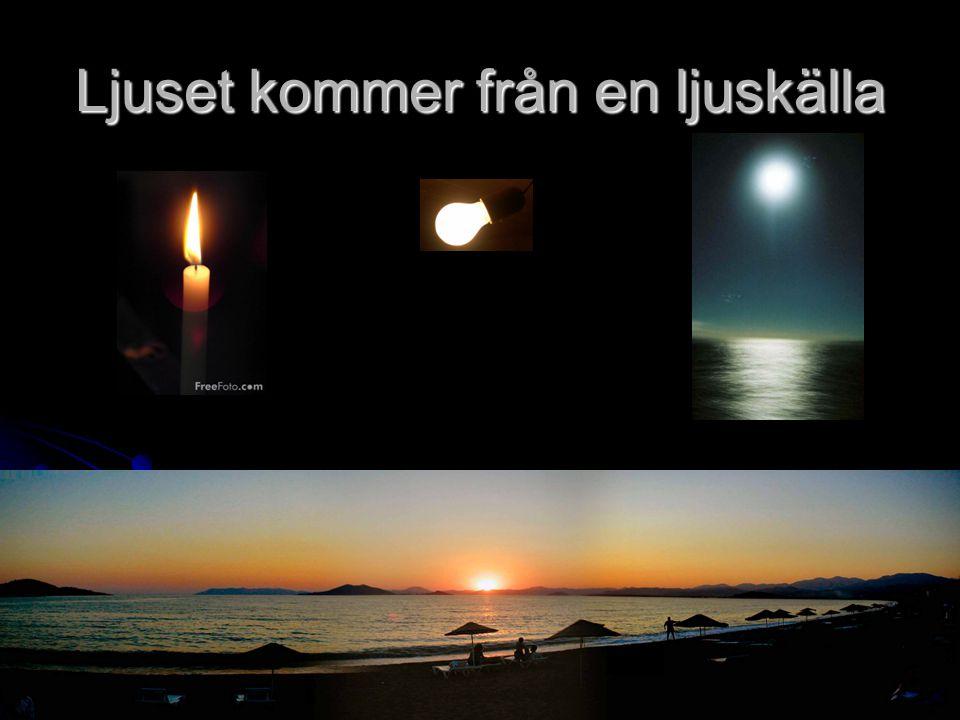 Ljuset kommer från en ljuskälla