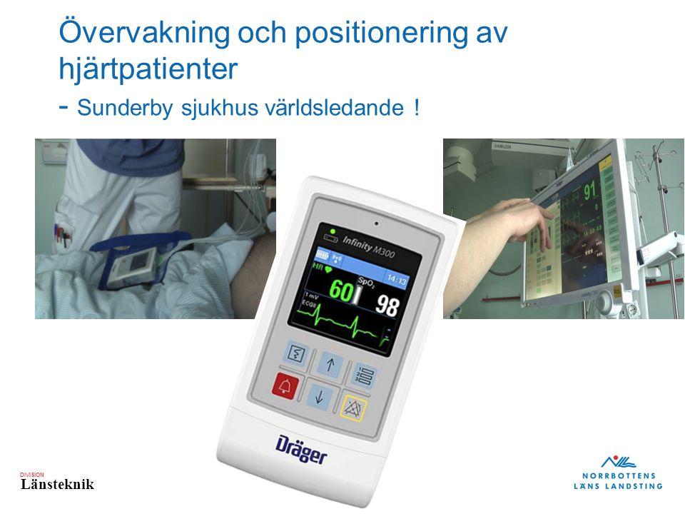 Övervakning och positionering av hjärtpatienter - Sunderby sjukhus världsledande !