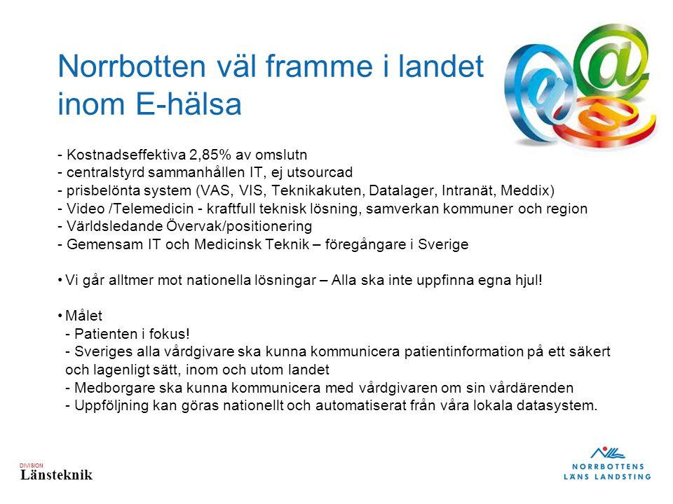 Norrbotten väl framme i landet inom E-hälsa