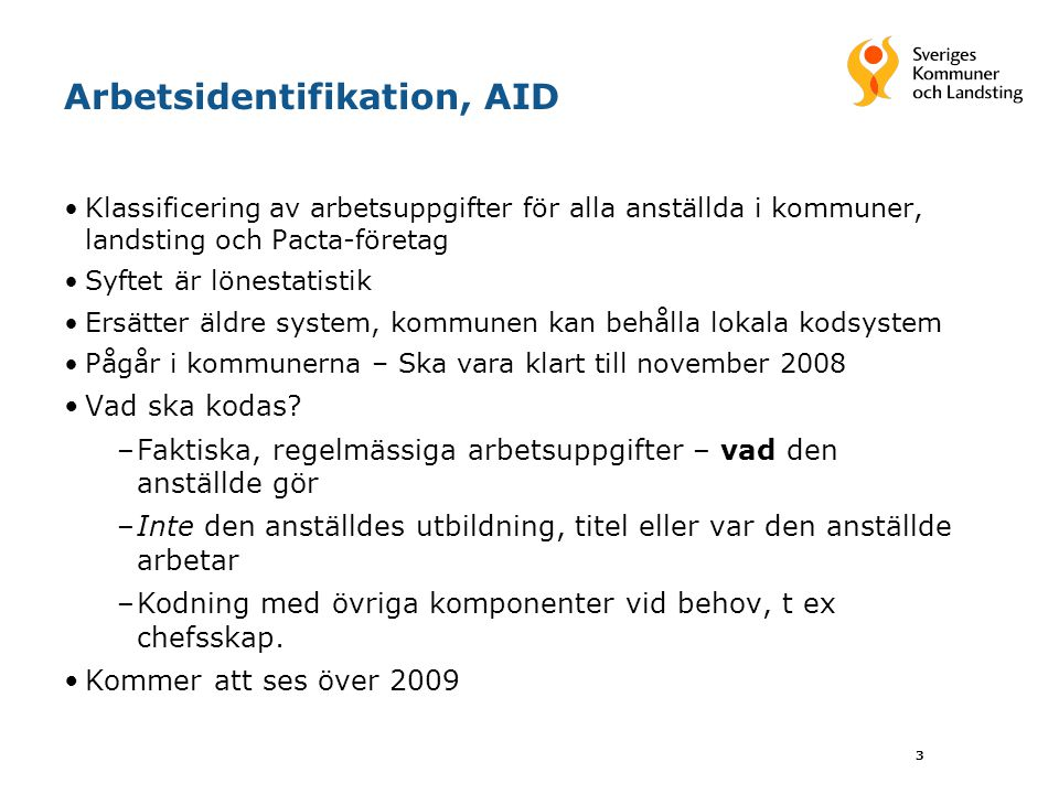 Arbetsidentifikation, AID