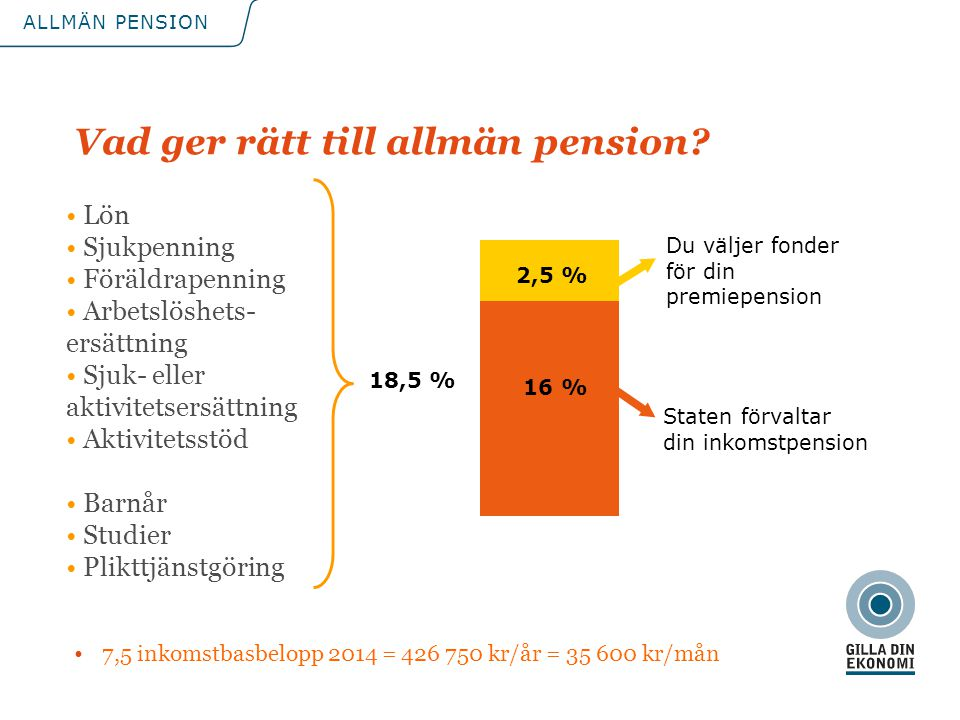Vad ger rätt till allmän pension