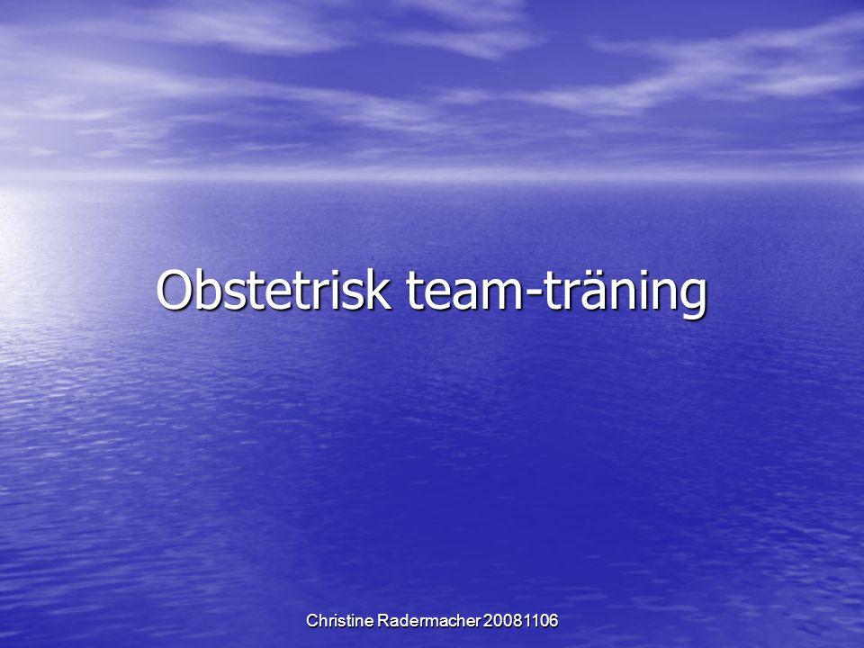 Obstetrisk team-träning