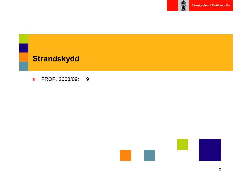 Strandskydd PROP. 2008/09: 119