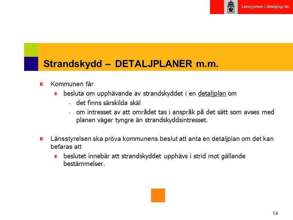 Strandskydd – DETALJPLANER m.m.