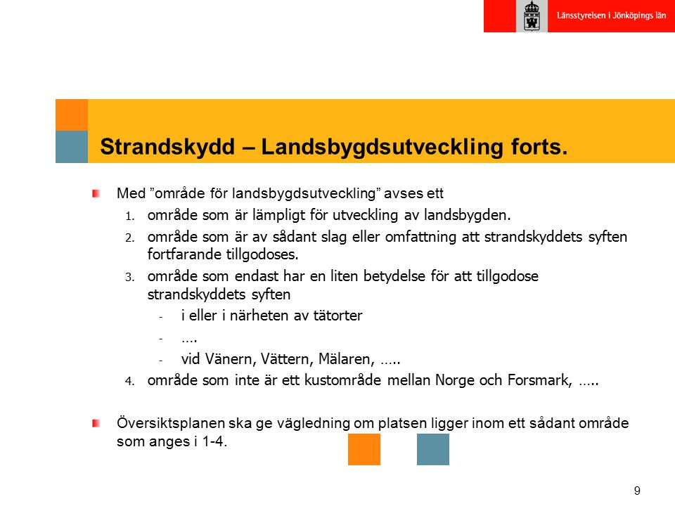 Strandskydd – Landsbygdsutveckling forts.