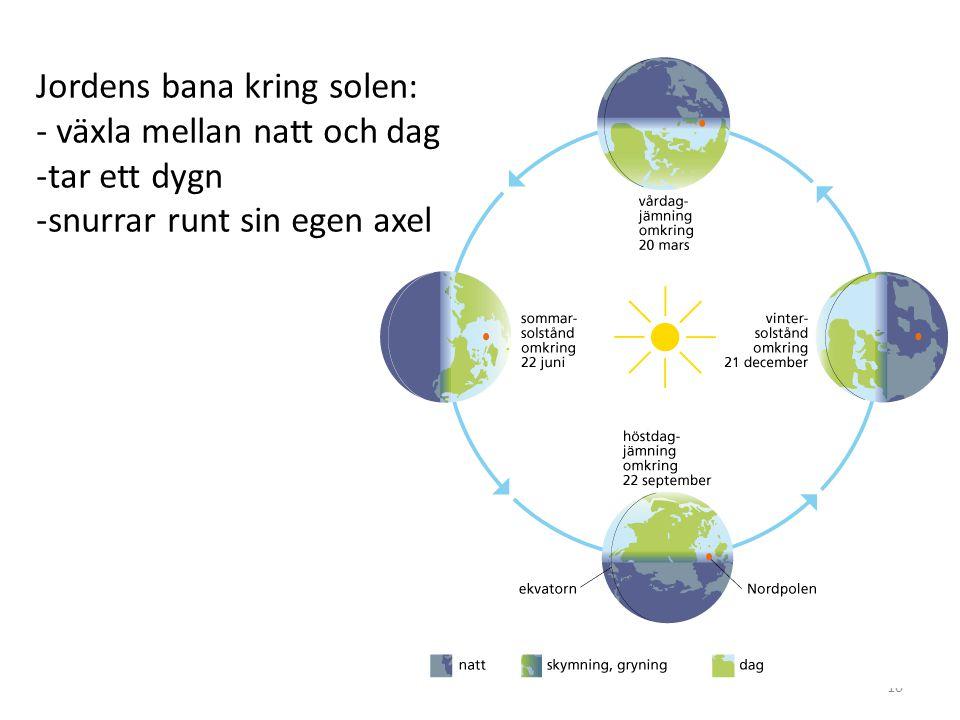 Jordens bana kring solen: