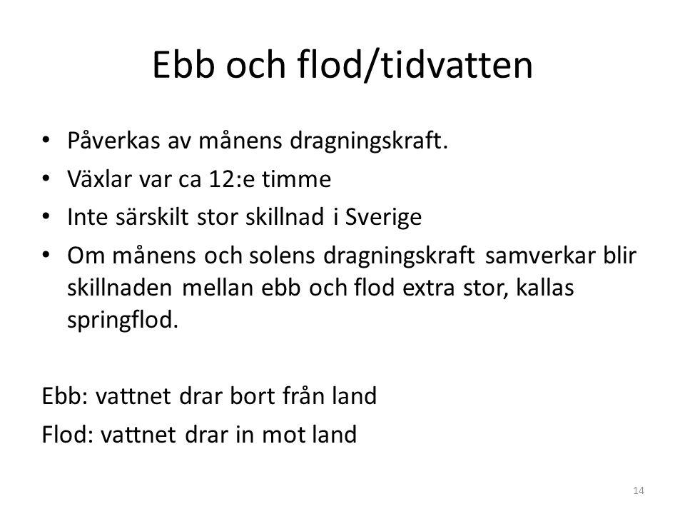 Ebb och flod/tidvatten